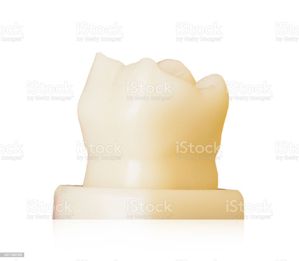 tooth wax on white background stock photo