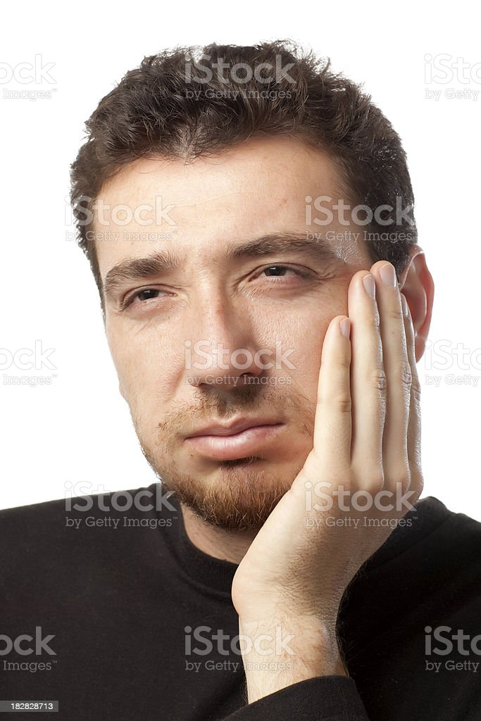 Toothache. royalty-free stock photo
