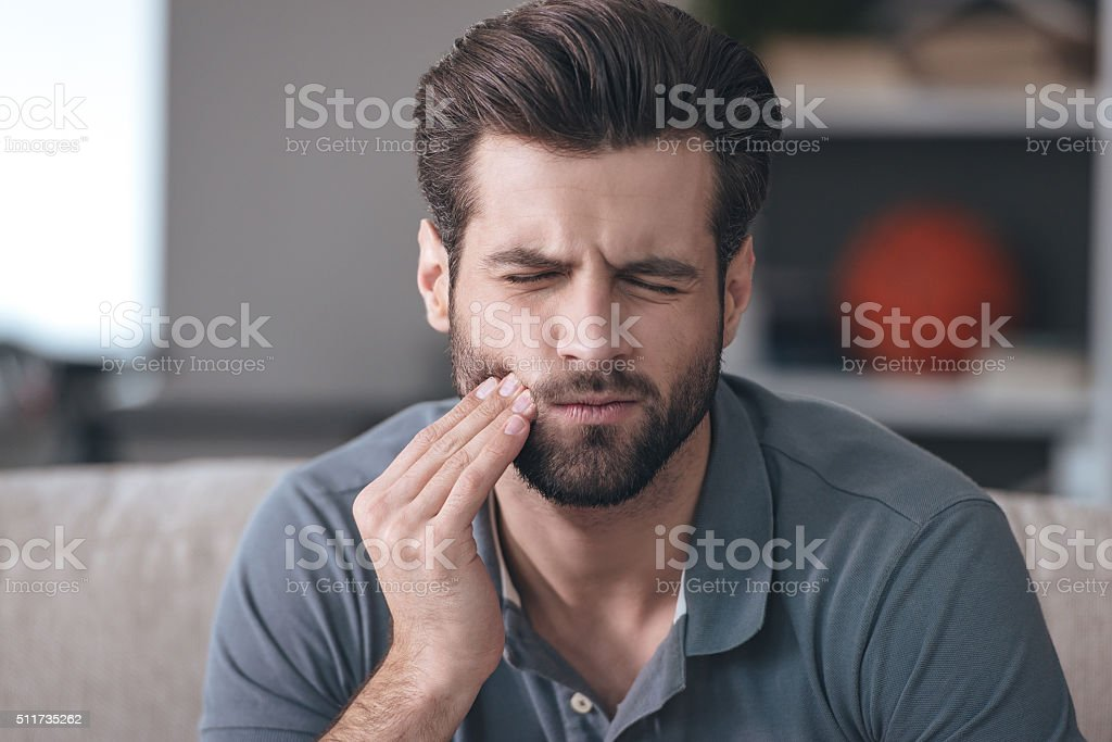 Toothache. stock photo