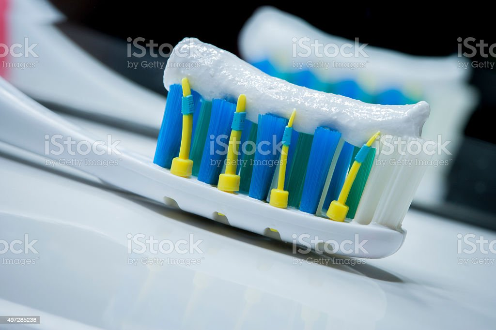 Toothbrush Detail stock photo