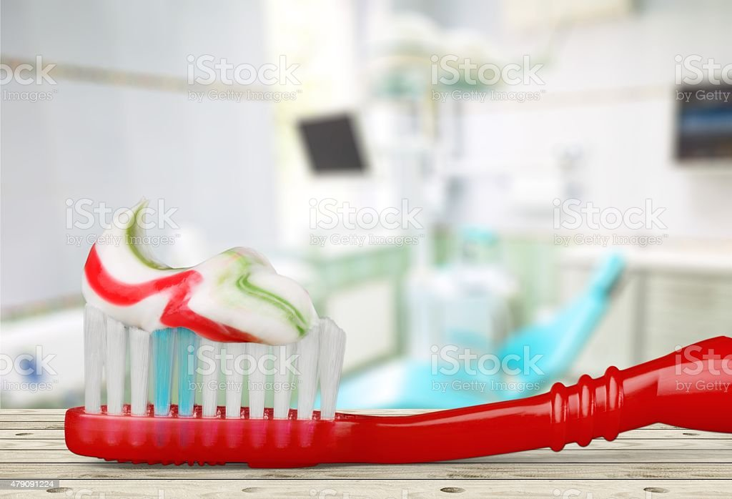 Toothbrush, Toothpaste, Dental Hygiene stock photo
