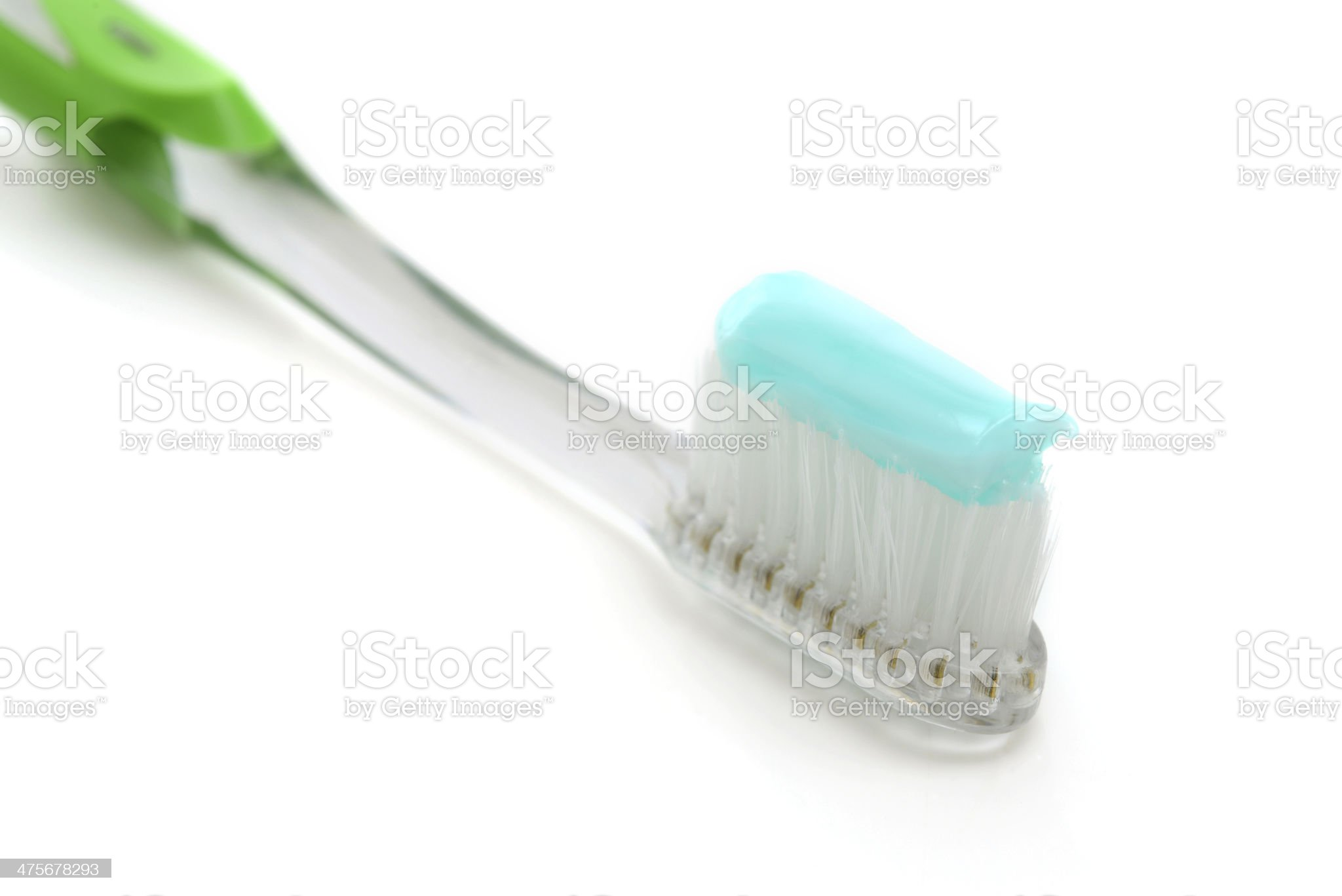 Toothbrush With Toothpaste royalty-free stock photo