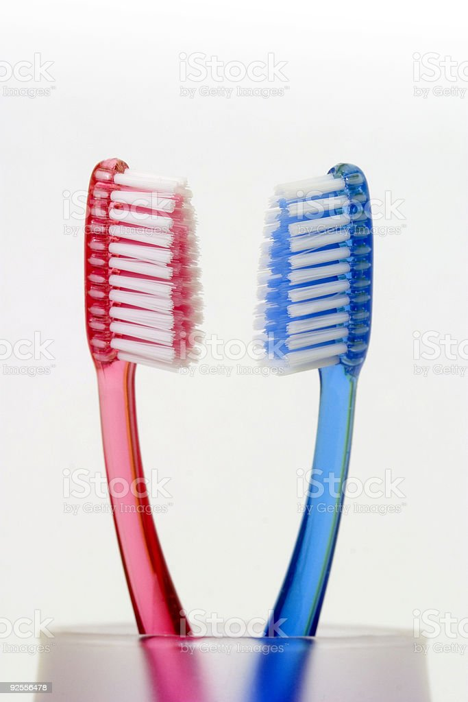Toothbrushes01 royalty-free stock photo