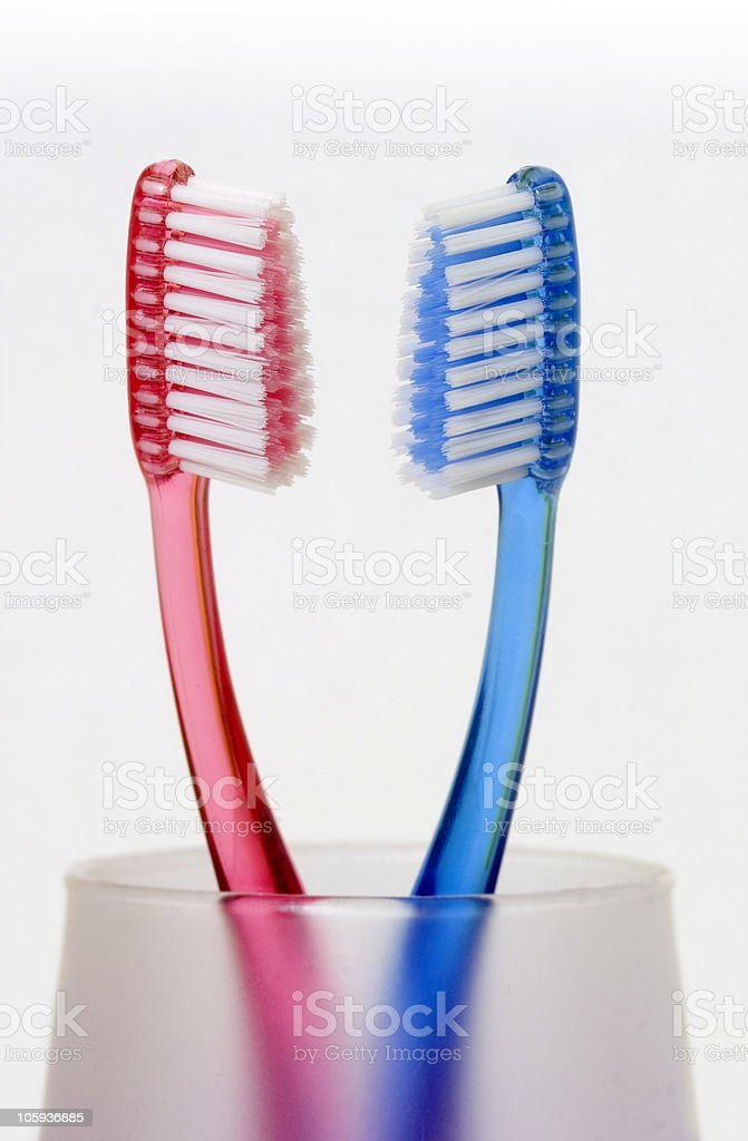 Toothbrushes02 stock photo