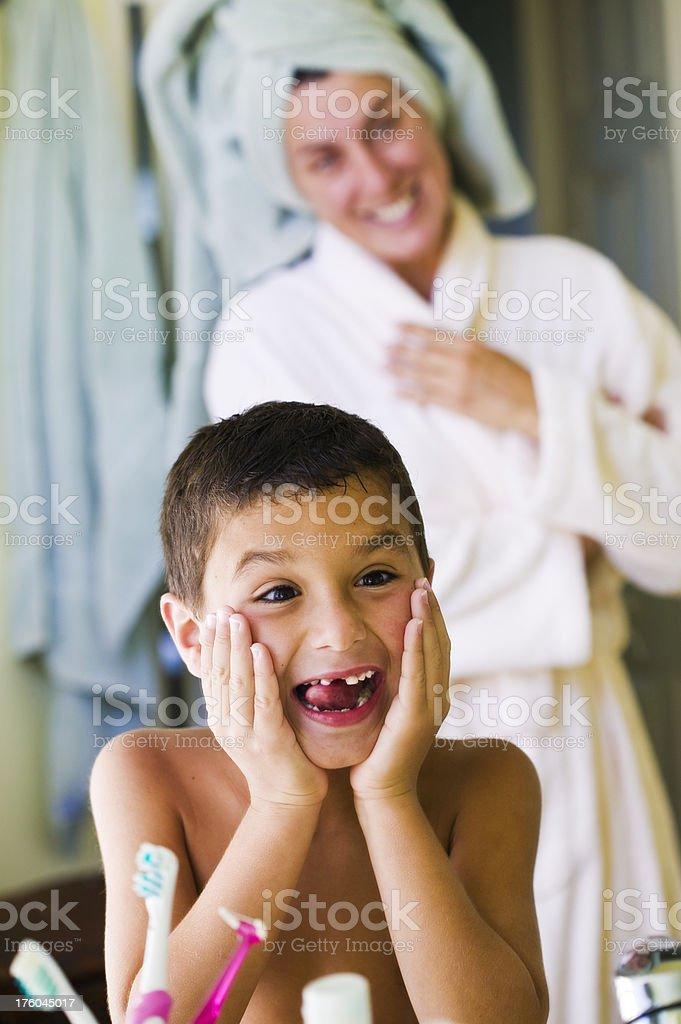 Toothless Boy royalty-free stock photo