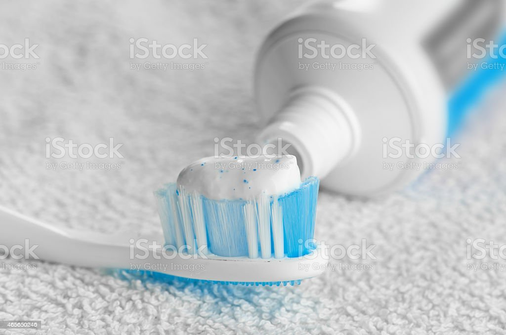 Toothpaste stock photo