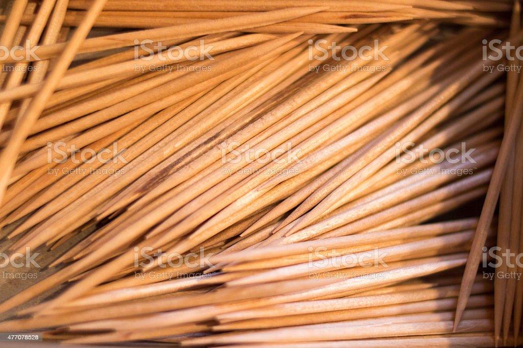 Toothpick Close up stock photo