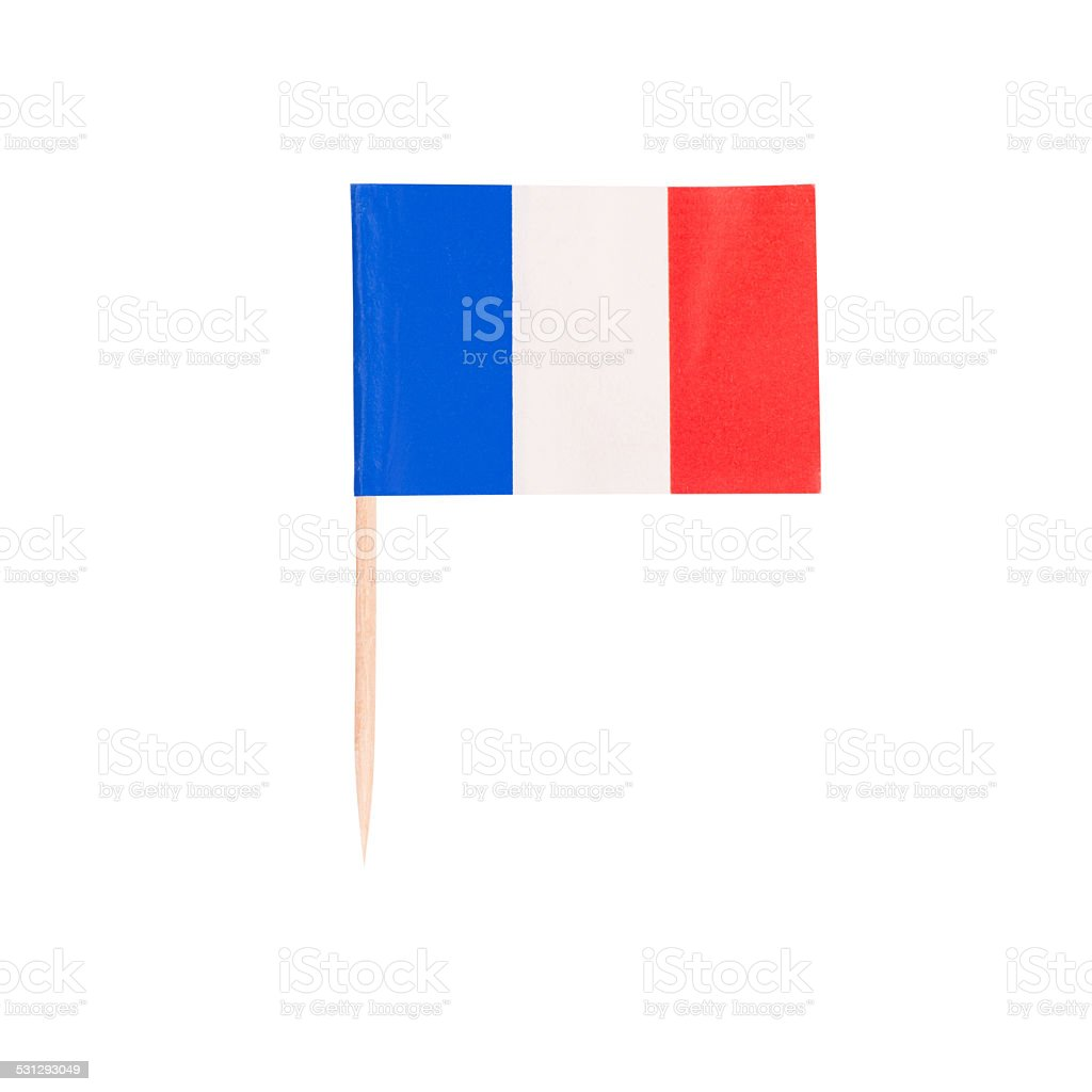 Toothpick Flag France stock photo
