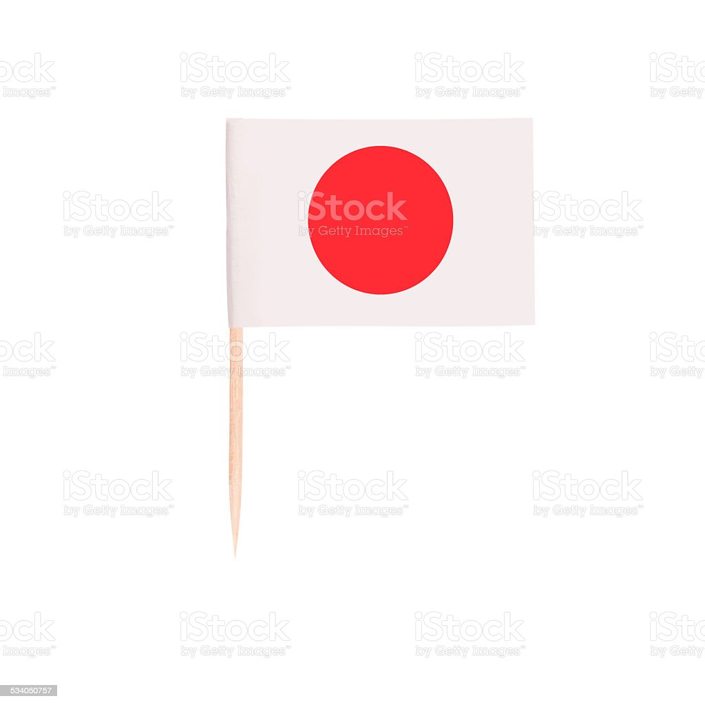Toothpick Flag Japan stock photo