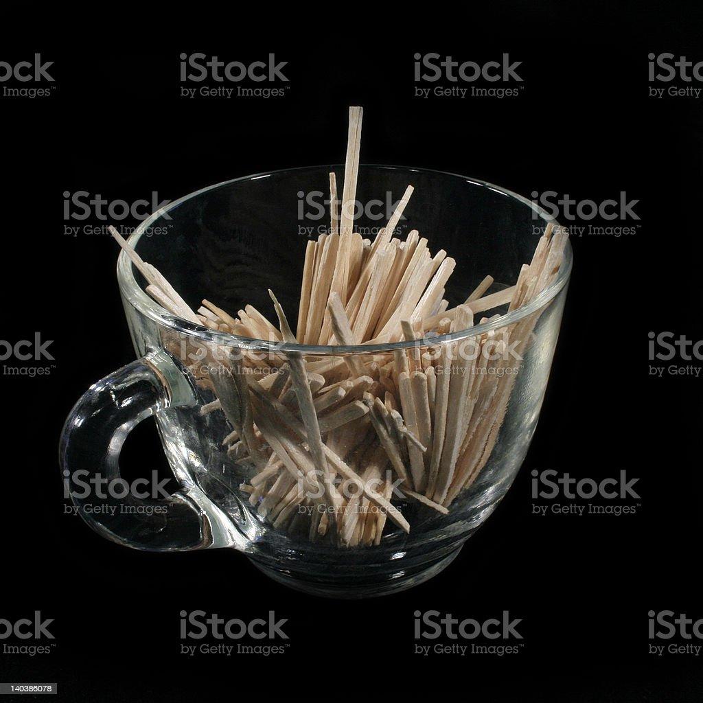 Toothpicks zbiór zdjęć royalty-free