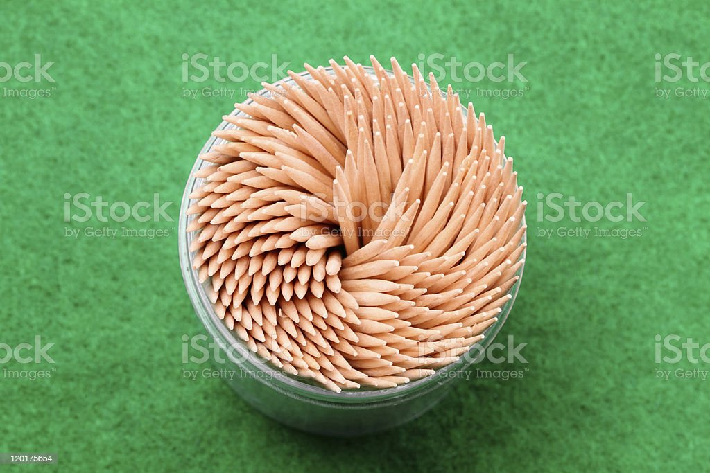 Toothpicks to the top stock photo