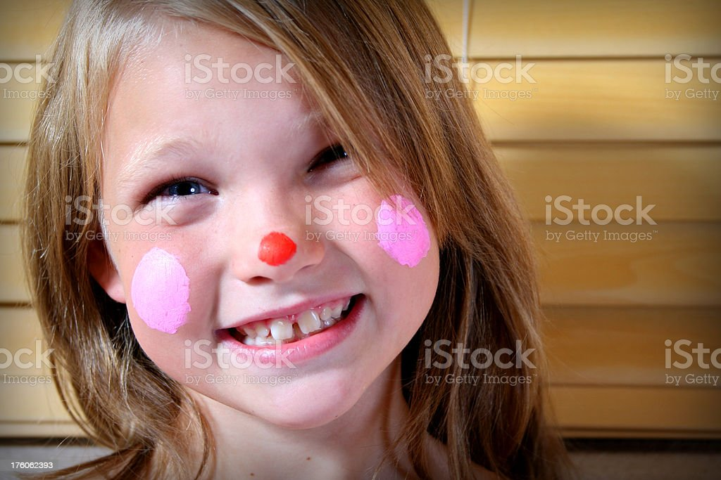 Toothy Clown Grin royalty-free stock photo