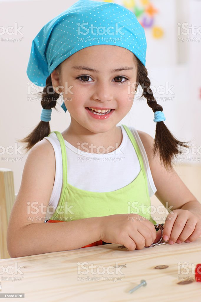 Toothy smile royalty-free stock photo