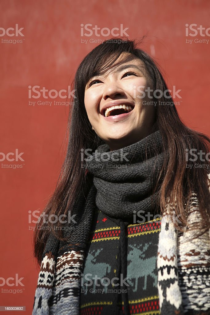 Toothy Smile Young Woman - XXXLarge royalty-free stock photo