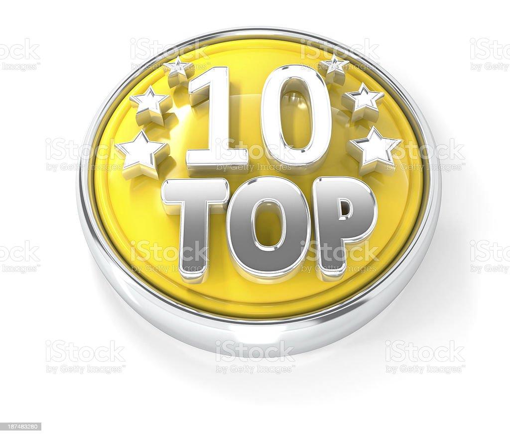 top 10 award icon stock photo