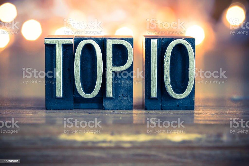 Top 10 Concept Metal Letterpress Type stock photo
