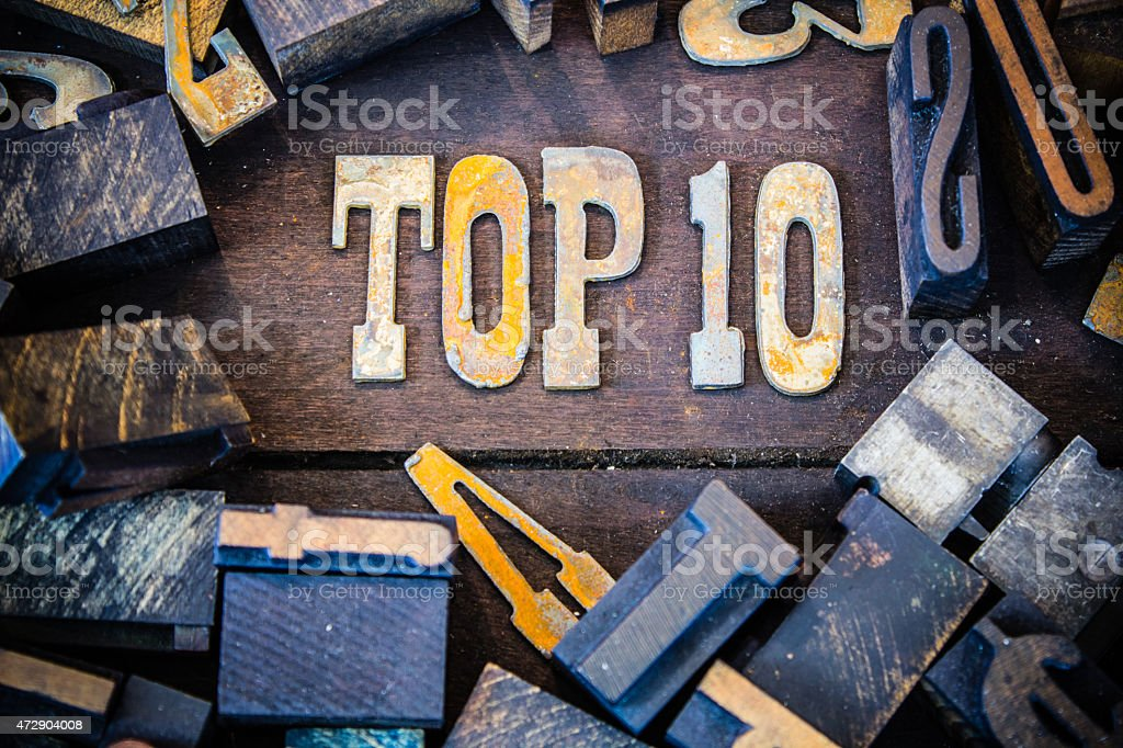 Top 10 Concept Rusty Type stock photo
