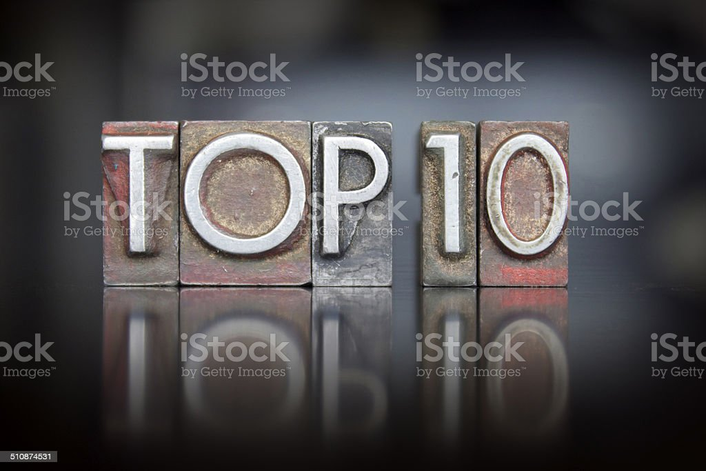 Top 10 Letterpress stock photo
