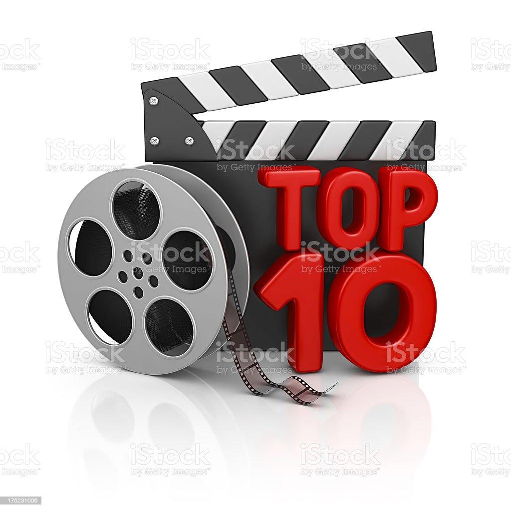 top 10 movies stock photo