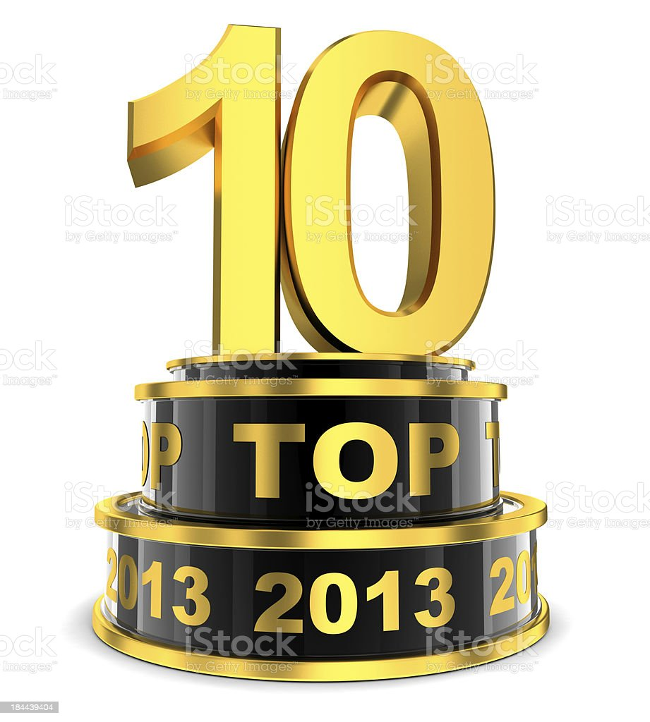 Top 10 of the year royalty-free stock photo