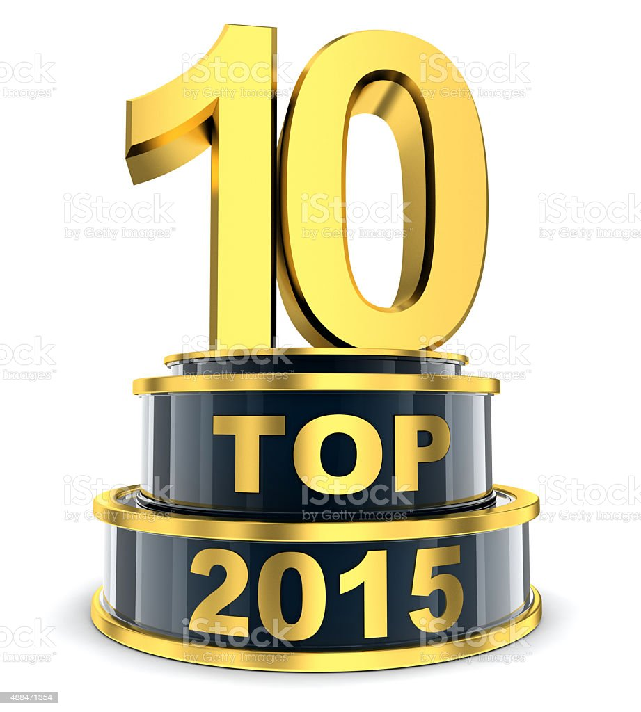 Top 10 of the year stock photo