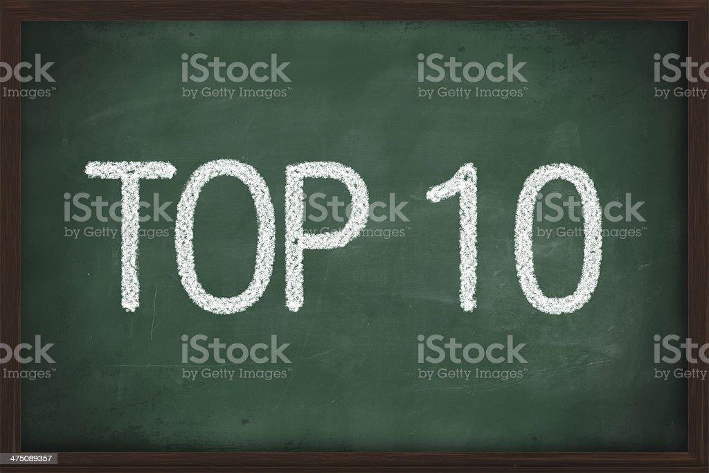Top 10 phrase stock photo