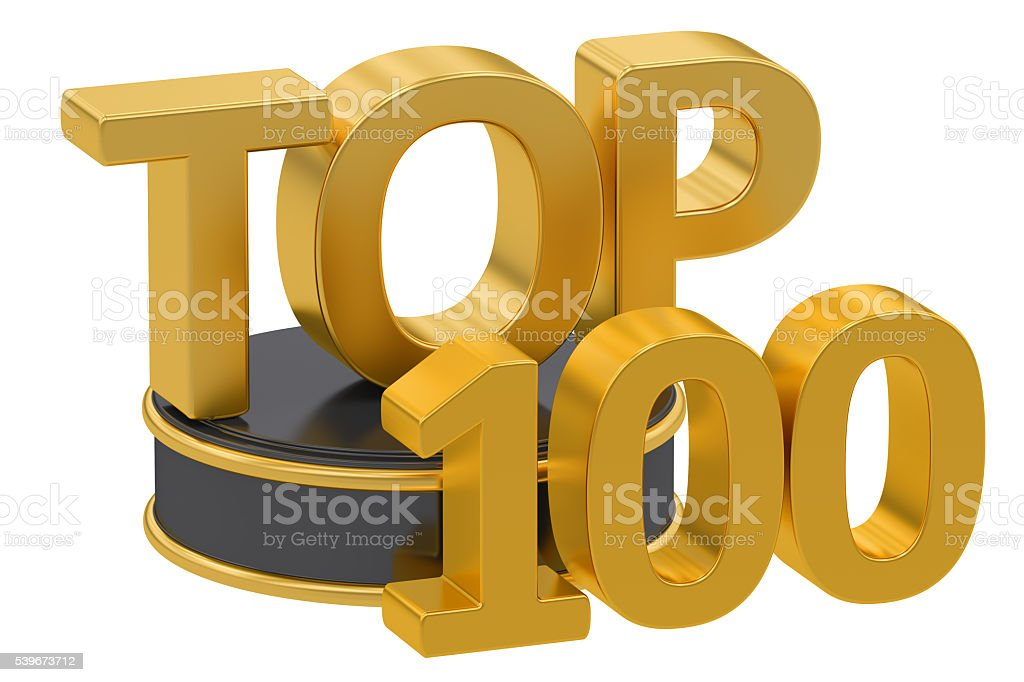Top 100, 3D rendering stock photo