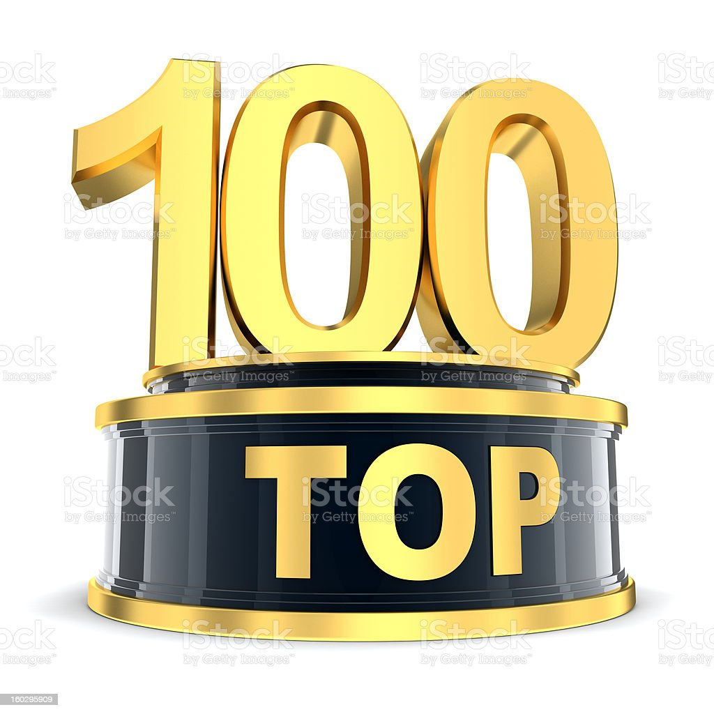 Top 100 award stock photo