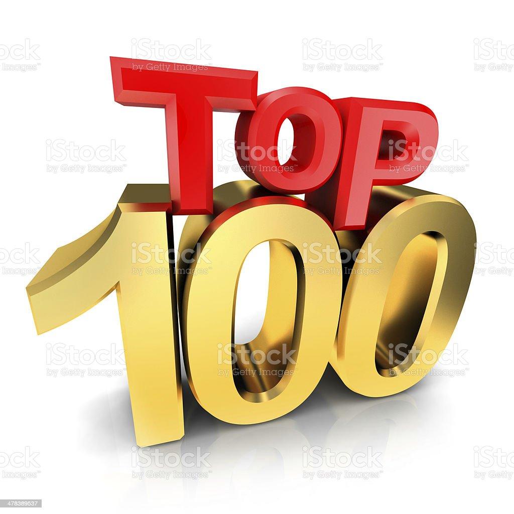 Top 100 award stock photo