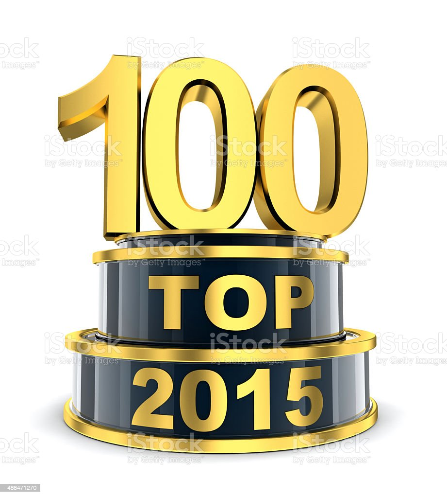 Top 100 of the year stock photo