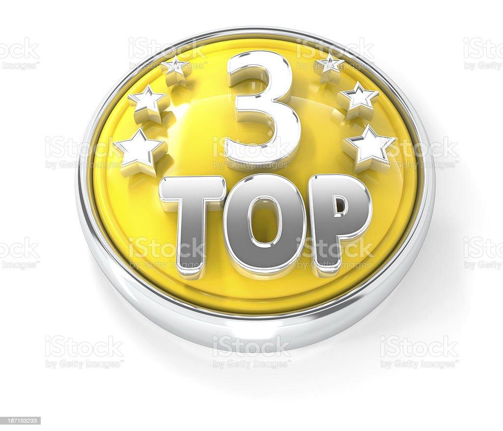 top 3 award icon stock photo