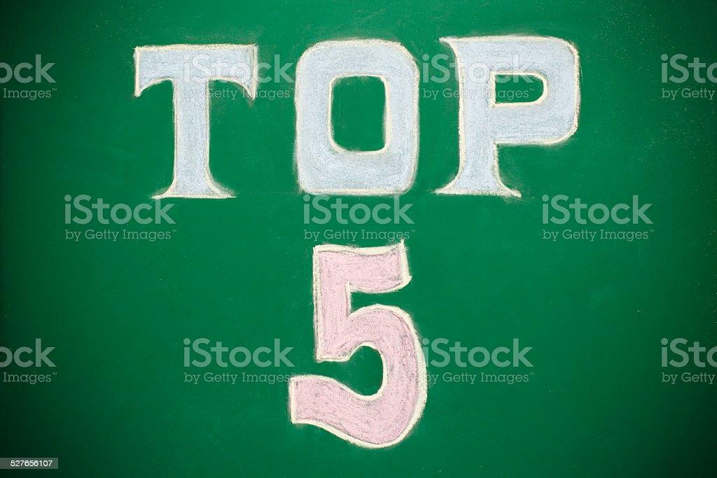 Top 5 Board stock photo