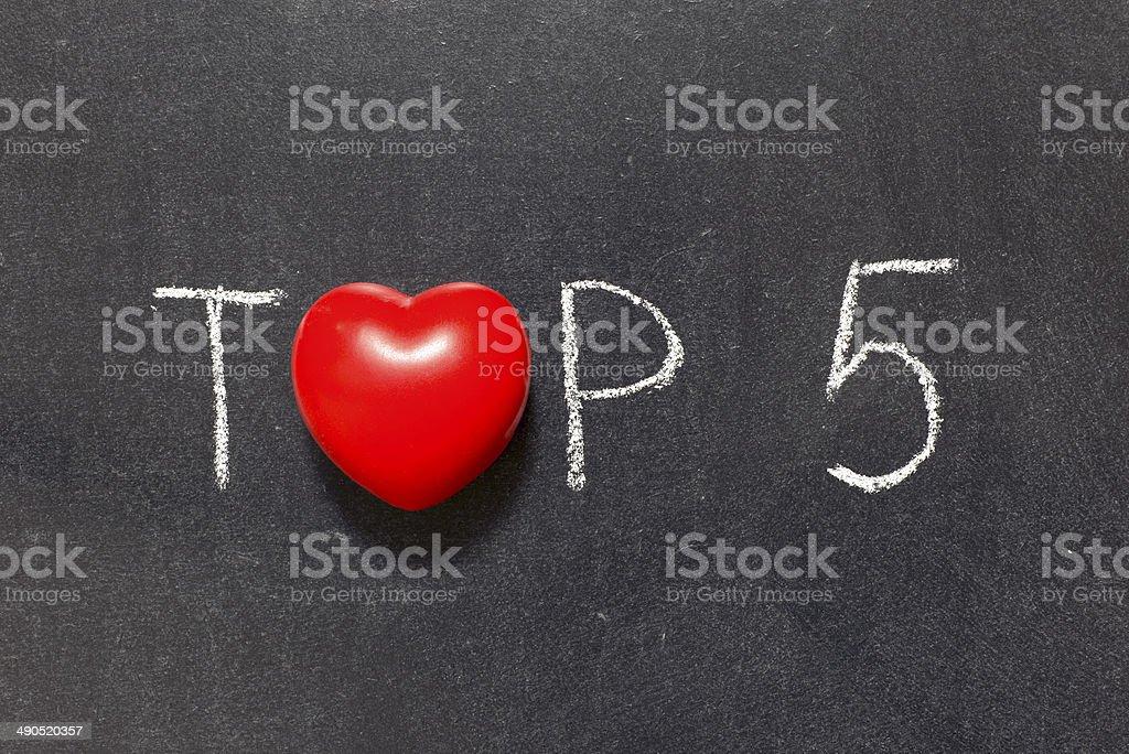 top 5 stock photo