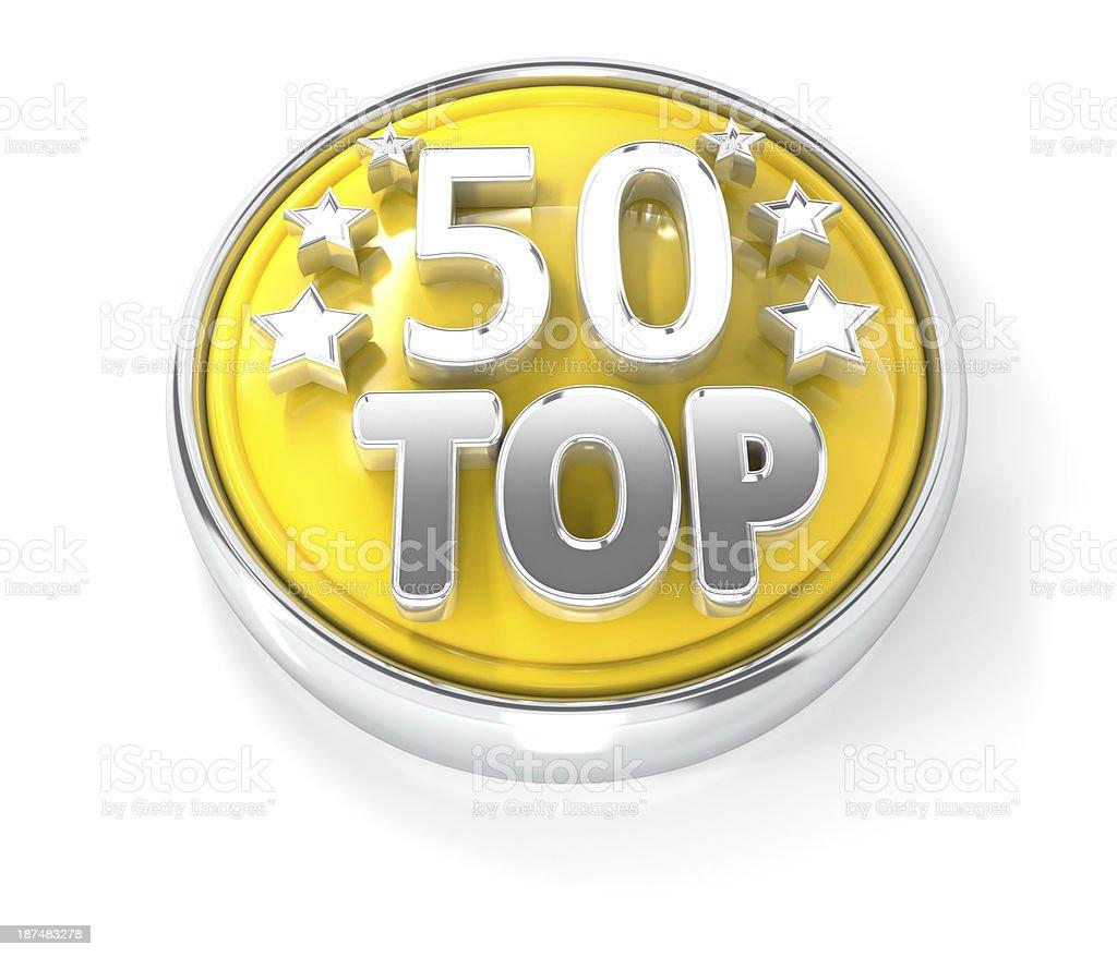 top 50 award icon stock photo