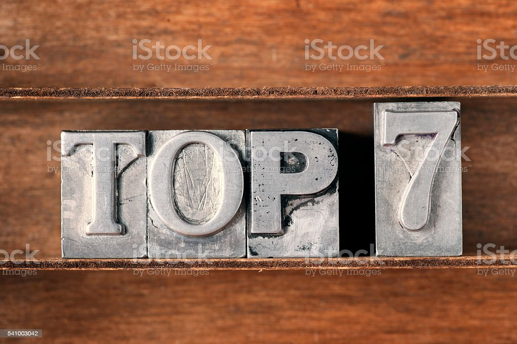 top 7 tray stock photo