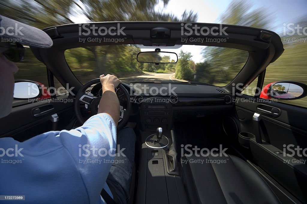 Top Down Drive royalty-free stock photo