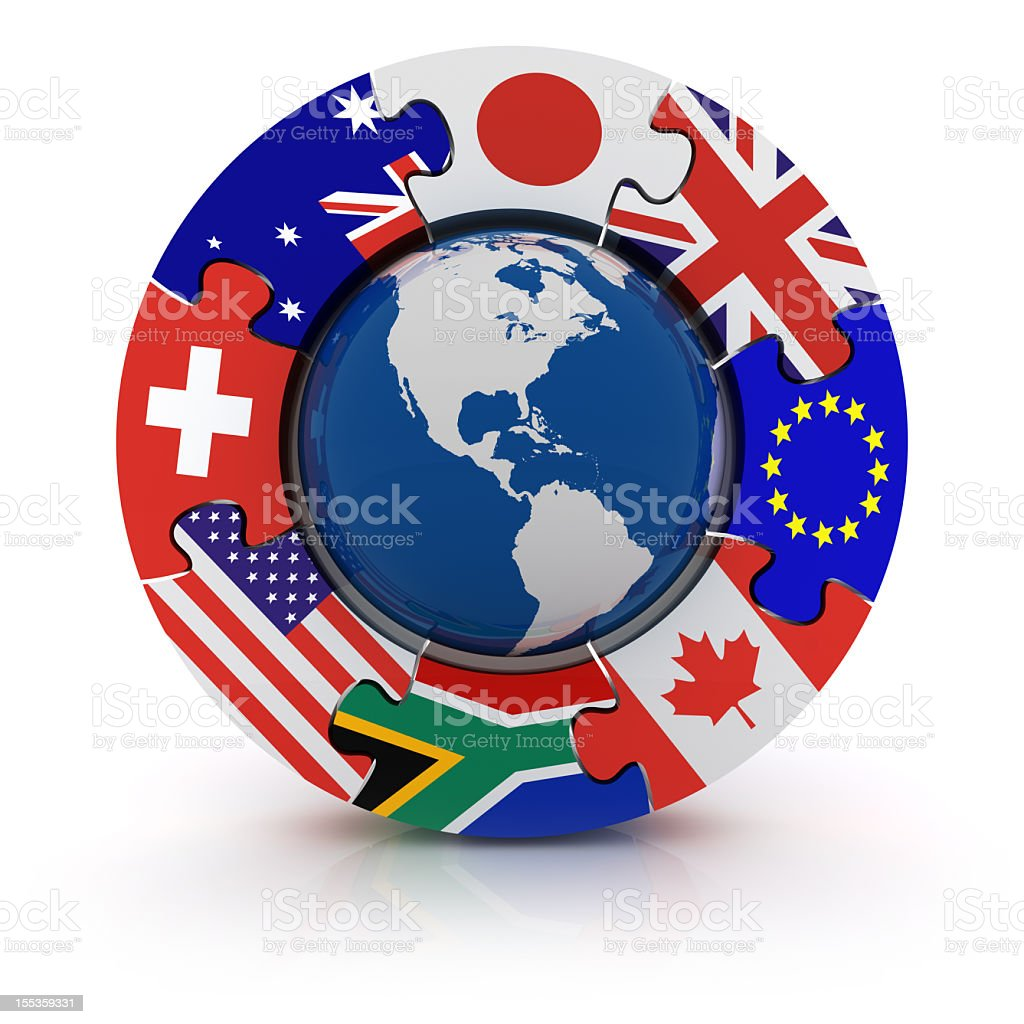 Top Eight Currencies royalty-free stock photo