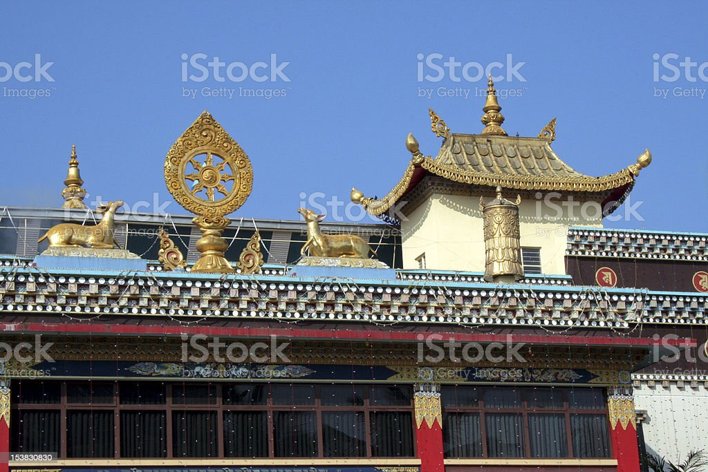 Top Exterior of Buddhist Temple royalty-free stock photo