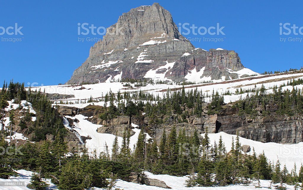Top- Glacier National Park stock photo