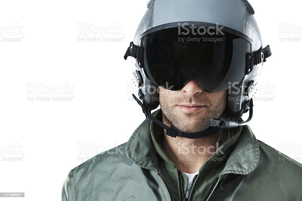 Top gun pilot stock photo