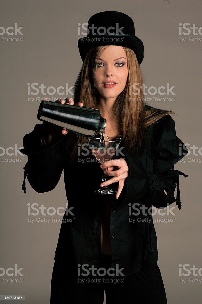 Top Hat Bartender royalty-free stock photo