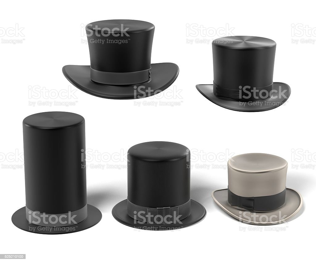 top hats stock photo