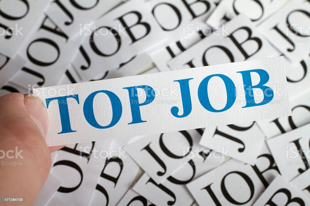 Top Job royalty-free stock photo