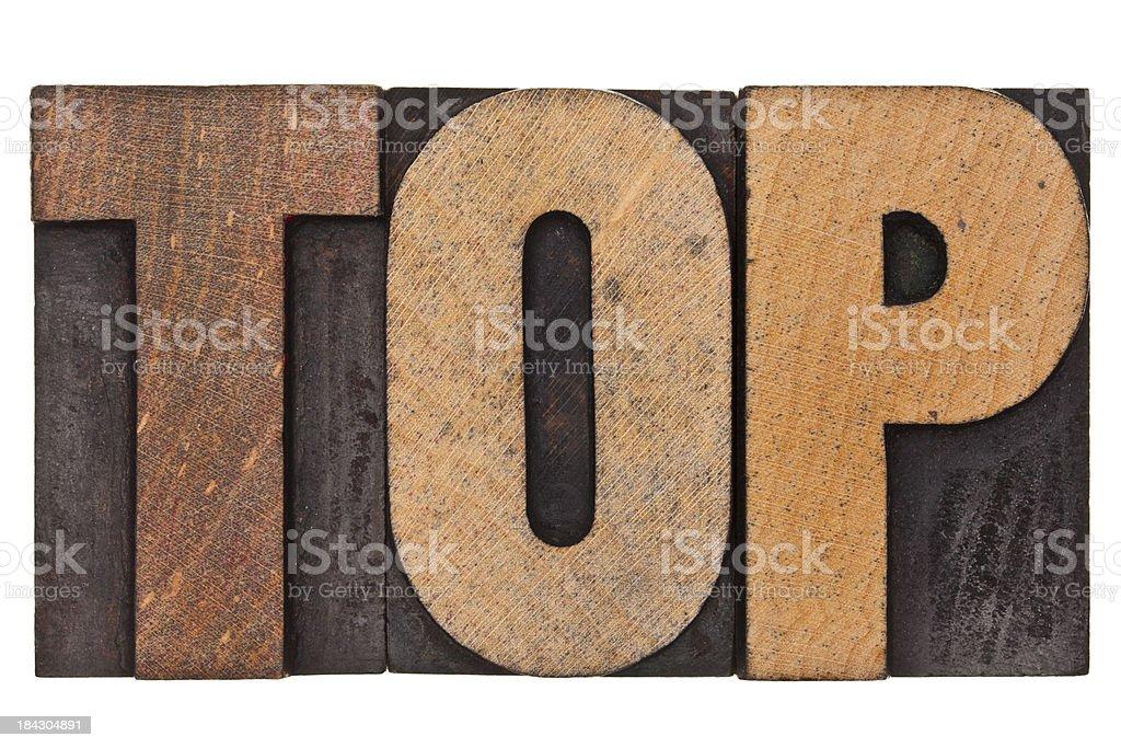 Top - Letterpress Letters stock photo