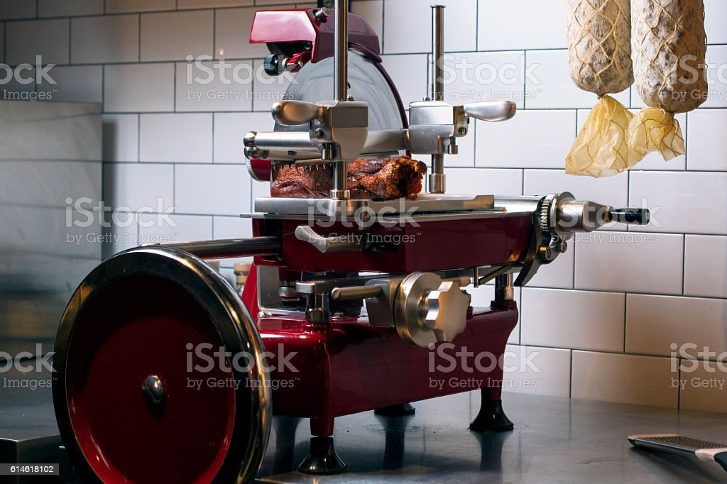 Top line Meat Slicer stock photo