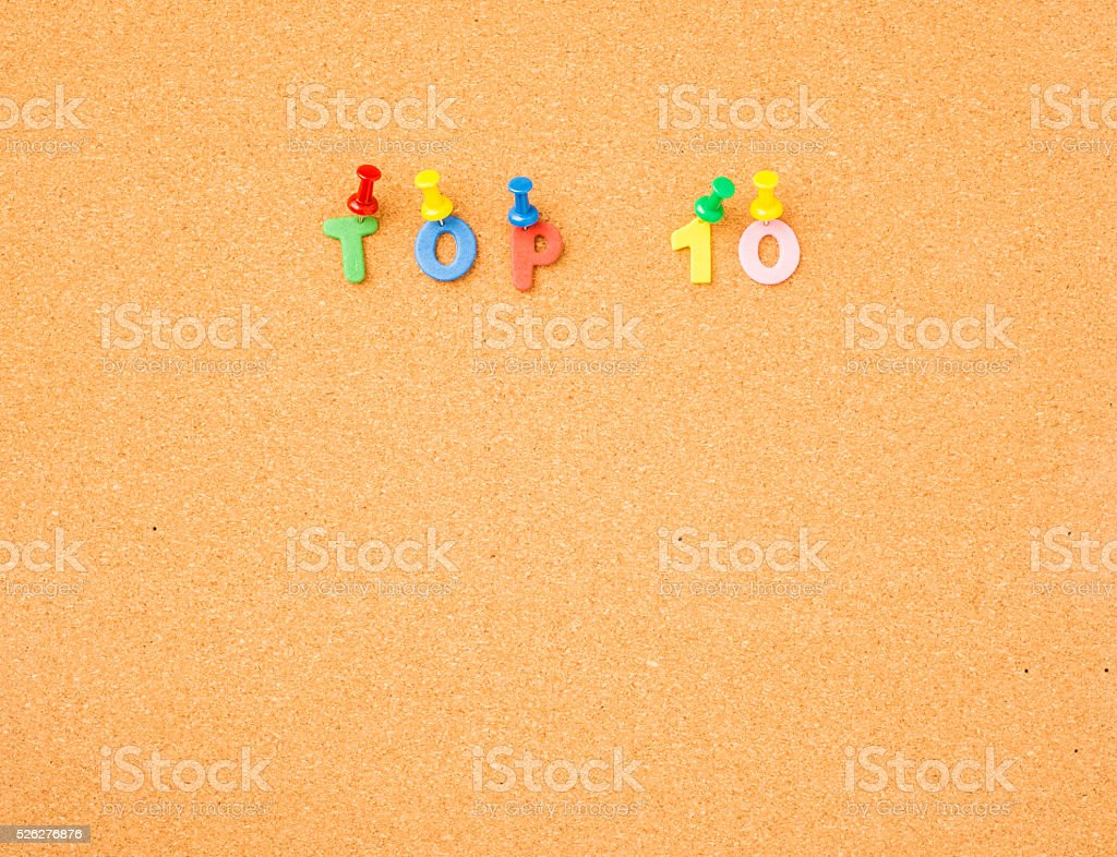 Top list on message board stock photo
