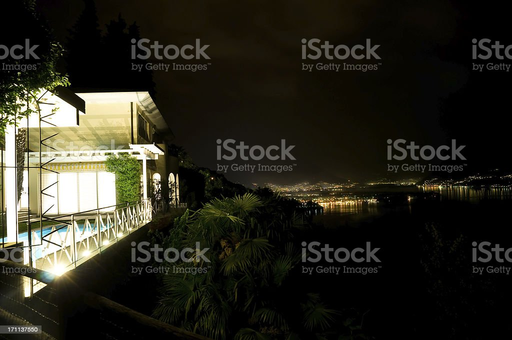 top luxury apartment with swimming pool stock photo