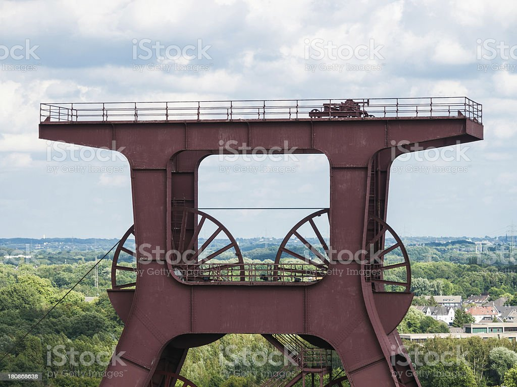 Top Main mine pit royalty-free stock photo