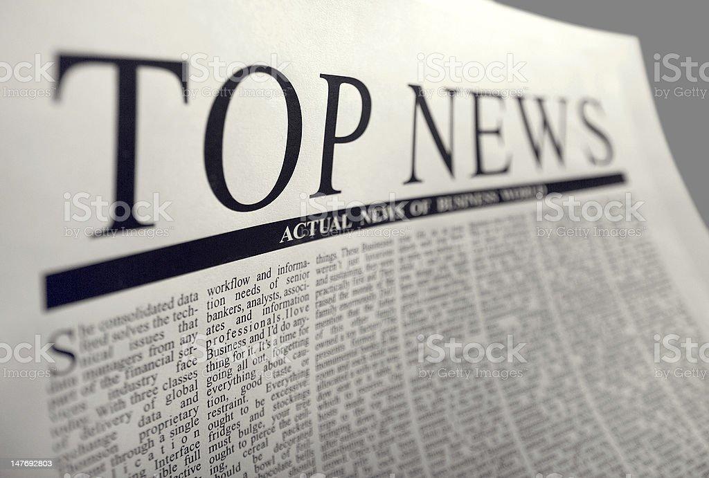 top news stock photo