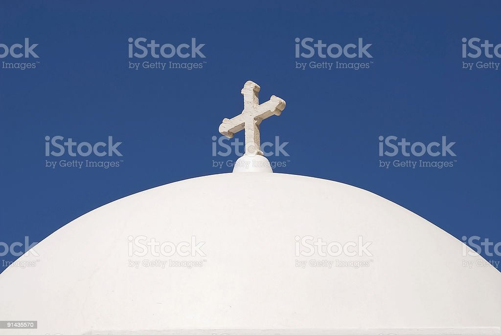Top of a church royalty-free stock photo